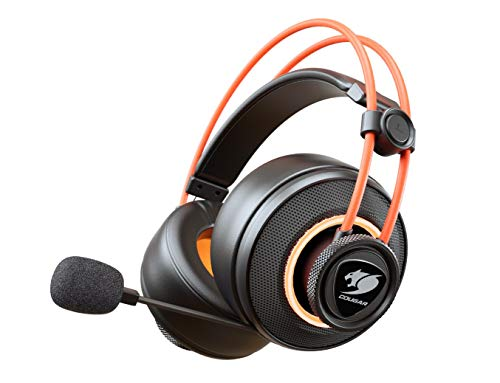 Cougar Immersa Pro Ti Gaming Headset - Ultimate 7.1 Virtual Suround and Brilliant Lighting Effect - USB and 3.5m Phone Plug for PC Gaming, ()