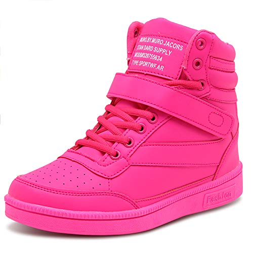 Barerun Womens High Top Warm Sneaker Non-Skid Casual Sports Shoes Pink 6.5 M US Women