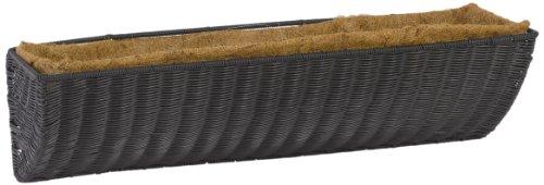 DMC Products 36-Inch Resin Wicker Wall Basket, Black