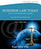 img - for Business Law Today, Standard: Text and Summarized Cases (Miller Business Law Today Family) book / textbook / text book