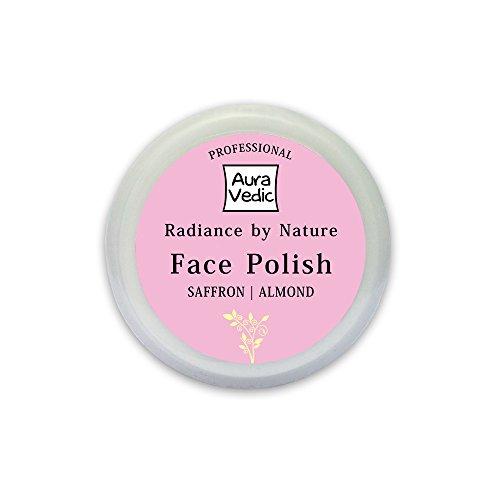Auravedic Saffron Almond Face Polish Professional, 50g