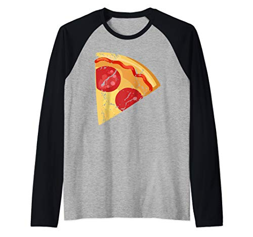 Pizza pie Matching halloween costume for couples for adults Raglan Baseball Tee