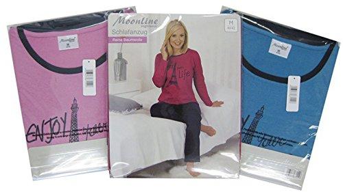 Moonline nightwear - Pijama - Manga Larga - para mujer petróleo