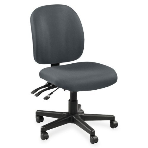 Lorell LLR53101 Mid-Back Task Chair without Arms, 4