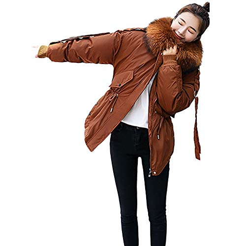 Women's Winter Cold Resistant Warm Down Cotton Long Quilted Parka Hooded Coat Jacket ()