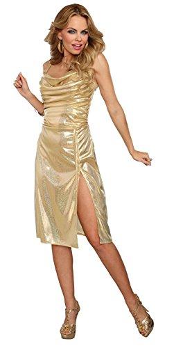Dreamgirl Disco Inferno Adult Costume, Gold, Medium -