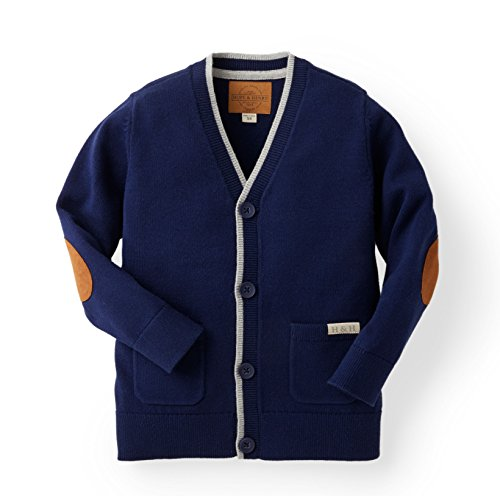 Hope & Henry Boys' Navy Cardigan Sweater