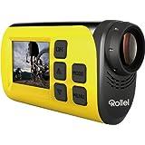 Rollei S-30 WiFi Plus Actioncam und Helmkamera (3,8 cm (1,5 Zoll)TFT Display, 2 Megapixel CMOS Sensor, Full HD Video-Auflösung) gelb