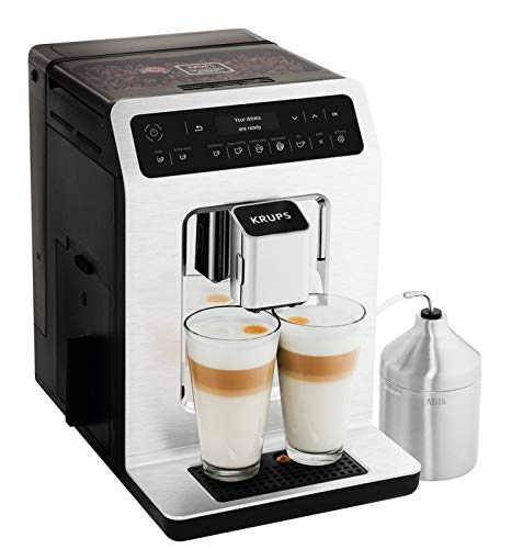 - KRUPS EA89 Deluxe One-Touch Super Automatic Espresso and Cappuccino Machine, 15 Fully Customizable Drinks,Gray
