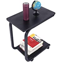 Coffee Tray Side Sofa Table Console Stand End TV Lap Snack Mobile Black