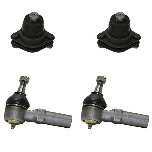 Detroit Axle - New 4pc Kit: Front Outer Tie Rod Ends + Lower Ball Joints for 1993-1996 Buick Century & Olds Cutlass Ciera