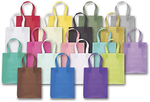 Coloured Frosted Shopper - Colored Frosted High Density Shoppers Assortment (120 Bags) - BOWS-268-080410-ASMT12