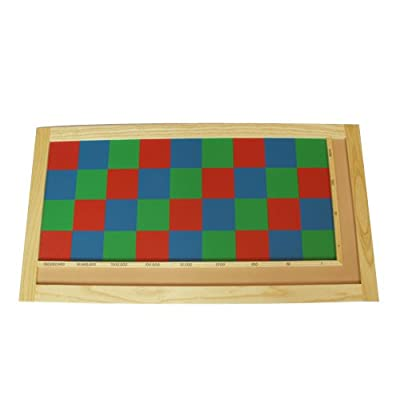 Montessori Checker Board: Toys & Games