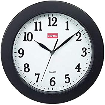 Amazon Com Staples 812291 14 Inch Round Atomic Wall Clock