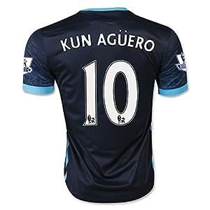 Amazon.com : MANCHESTER CITY KUN AGUERO 10 Soccer Jersey