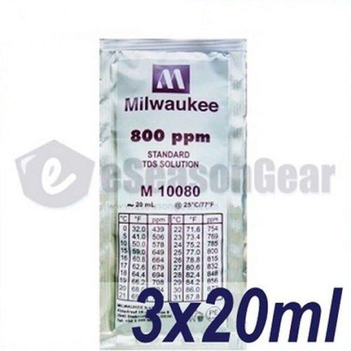 (3x20ml 800 ppm TDS Calibration Solution, milwaukee/m10080/hanna/hi70080)