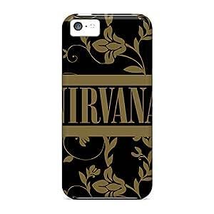 Iphone 5c QFV19914rqFD Allow Personal Design High Resolution Nirvana Band Skin Shockproof Cell-phone Hard Cover -JamieBratt