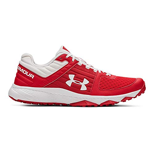 Under Armour Men's Yard Trainer Baseball Shoe, Red (600)/White, 10.5 M US