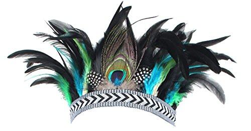 (1920s Flapper Headband Feather Hairband Fascinator Headpiece Bohemia Headdress Fancy Party Headwear)