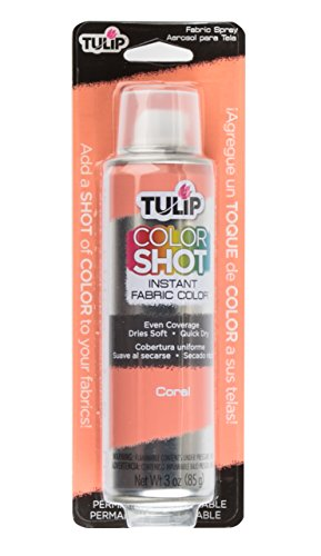 The Color Coral (Tulip ColorShot Instant Fabric Color 3oz. Coral)