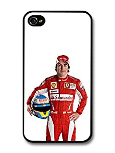 Fernando Alonso Santander Formula One Driver case for iPhone 4 4S