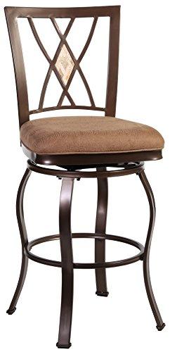 (Hillsdale Furniture 4815-831 Brookside Diamond Bar Stool, Brown )