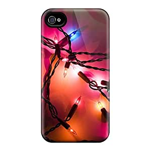 Excellent Iphone 4/4s Case Tpu Cover Back Skin Protector Holiday Lights