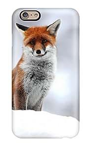 Hot Iphone 6 Hard Back With Bumper Silicone Gel Tpu Case Cover Cute Little Fox