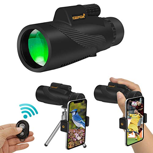 Ceenda Monocular Telescope,12x50 HD BAK4 Prism Waterproof High Power Monocular with Phone Photography Adapter and Wireless Remote Control,Perfect for Bird watching Hiking Concerts (Best Lens For Bird Photography)