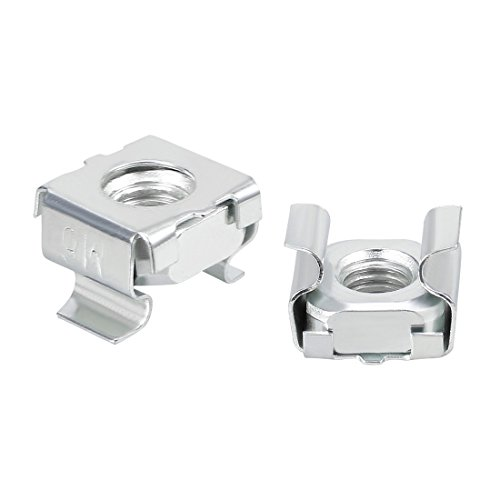 uxcell 55 Pack, M6 Cage Nut, Carbon Steel Zinc Plated for Server Shelf Cabinet
