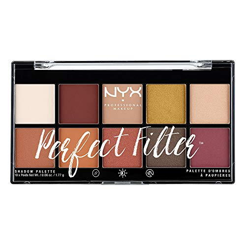 NYX PROFESSIONAL MAKEUP Perfect Filter Shadow Palette, Rustic Antique, 0.6 Ounce