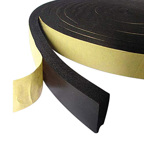 High Density Foam Tape, Foam Seal Strip Adhesive Weather Strip Foam Tape (19.68 feet Length(1/2 Inch Wide X 3/8Inch Thick), Black) - High Density File Cabinets