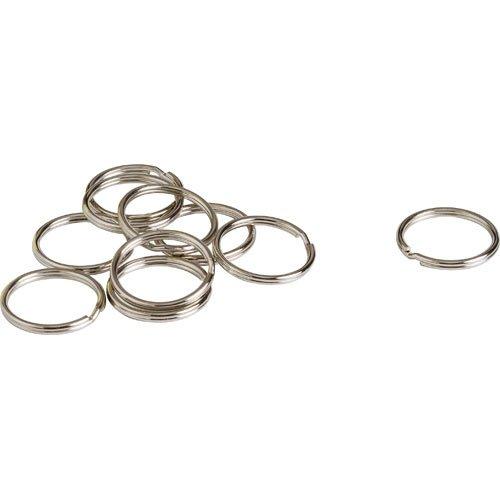 Brady 58973, 1'' Metal Silver Nickel Plated Key Ring, 50 Packs of 10 pcs by Brady