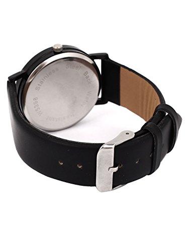 Faux Leather Bow-tie Design Casual Quartz Dress Wrist Watch Black
