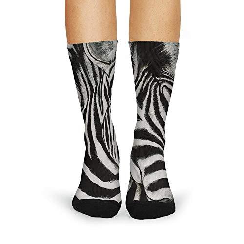 XIdan-die Womens Over-the-Calf Tube Socks 2 zebra drawing Moisture Wicking Casual Socks by XIdan-die