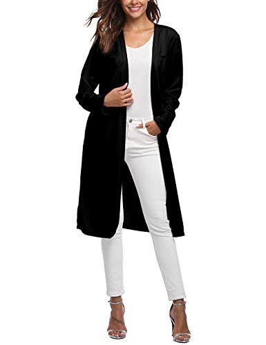 Long Black Cardigan Sweater - 3