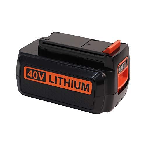 DSANKE 40 Volt MAX 2.5Ah Lithium Replacement Battery for Black and Decker 40V Battery LBX2040 LBXR36 LBXR2036 LST540 LCS1240 LBX1540 LST136W Black+Decker Lithium Battery