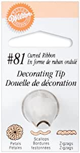 Wilton Decorating Tip, No.81 Curved Ribbon