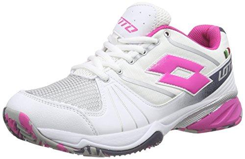 LottoESOSPHERE Cly W - Zapatillas de Tenis Mujer Blanco - Weiß (Wht/Fux Lt)