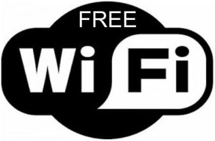 Bar Club Shop x 1 Office Wifi Free Sticker Decal Internet Sign Cafe