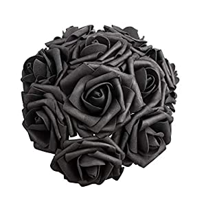Artificial Flowers Dark Orange Roses Real Looking Fake Roses DIY Wedding Bouquets Centerpieces Arrangements Party Baby Shower Home Decorations 2