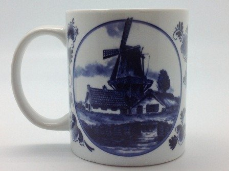Dutch Gift Delft Windmill Coffee Cup Photo #4