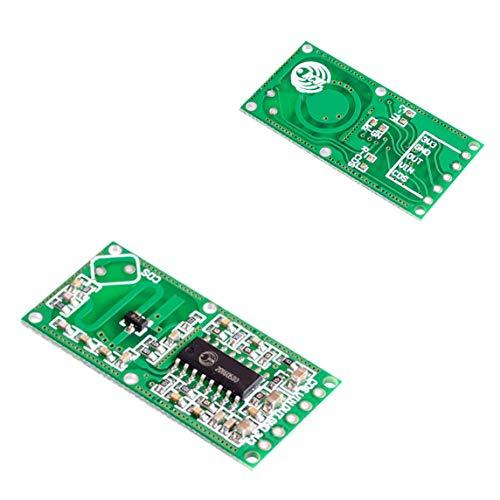 Footprintse RCWL-0516 Doppler Radar Sensor Detector de movimiento Módulo de microondas para Arduino Cuerpo humano Interruptor de inducción Detección ...