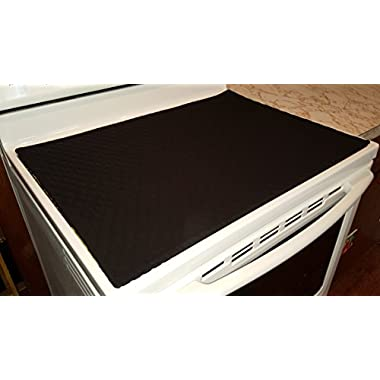 Glass Stove Top / Cook Top Cover & Protector (Black)