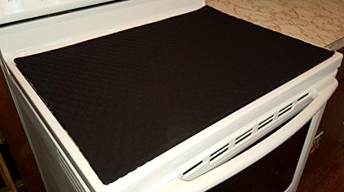 Quilted Cover & Protector for Glass/Ceramic Stove Top (Black)