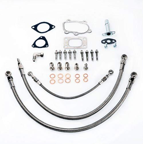 Kinugawa Turbo Install Kit S13 SR20DET Silvia Garrett T25 Journal Bearing 6AN Line
