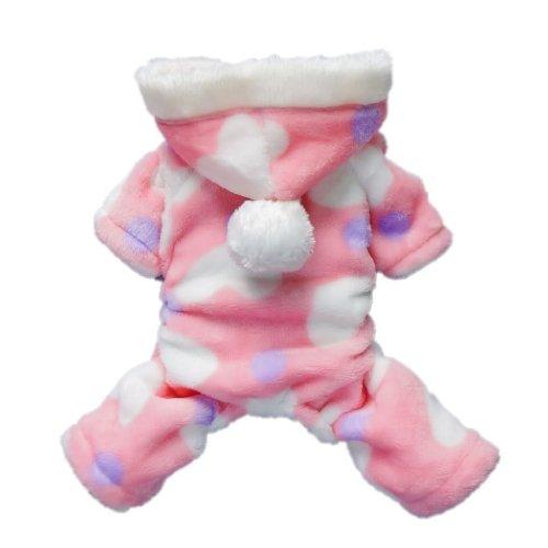 Petparty Sweetie Dog Coat for Dog Clothes Dog Jumpsuit Soft Cozy Pet Clothes Pet Coat (Pink, L)