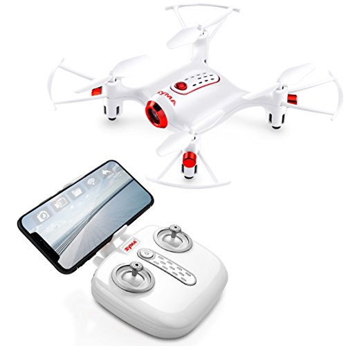 Mini Drone for Kids With Camera, SYMA X20W RC Nano Quadcopter 2.4GHz 6 Axis With Altitude Hold Function, Headless Mode Remote Control FPV Helicopter for Beginners Kids