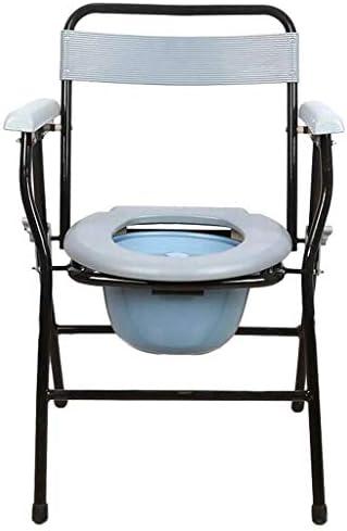Wei Jun トイレチェア、妊娠中の女性のためのポータブルトイレシート、折りたたみトイレ、高齢者、障害者用トイレシート /-/-/ (Size : 36x36x81cm)