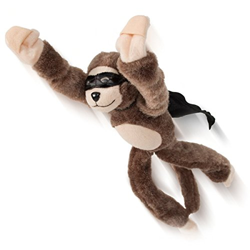 Playmaker Toys Flingshot Flying Monkey Plush Toy, Brown